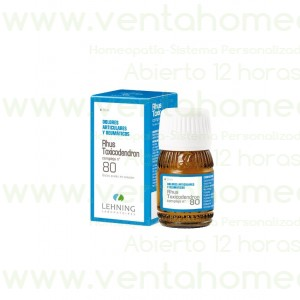 Rhus Toxicodendron complejo nº 80 30 ml - Lehning