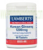 LAMBERTS Ginseng coreano 1.200 mg  60 CAPSULAS
