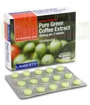LAMBERTS Extracto de café Verde Puro 60 TABLETAS