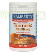 LAMBERTS Cúrcuma 10.000 mg (120 TABLETAS