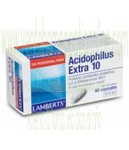 LAMBERTS Acidophilus Extra 10. 60 CAPSULAS