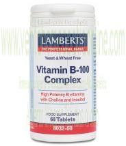 LAMBERTS Complejo de Vitamina B-100 60 tabletas