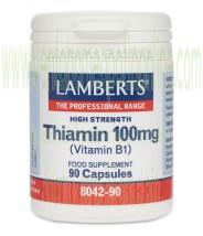 LAMBERTS Tiamina 100 mg Vitamina B1 90 CAPSULAS