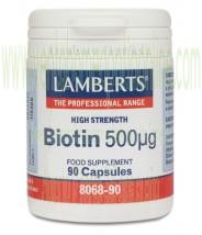 LAMBERTS Biotina 500 µg 90 CAPSULAS