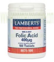 LAMBERTS Ácido Fólico 400 mcg 100 tabletas
