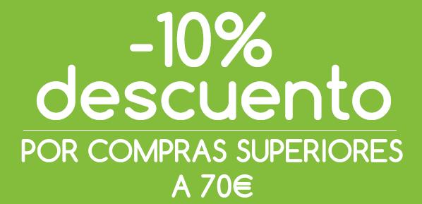 descuento para compras superiores a 70 euros